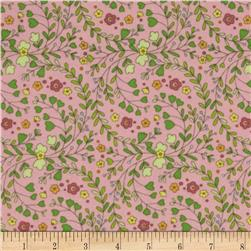 Flannel Floral Vines Pink/Multi