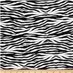 Princess Zebra Print Black