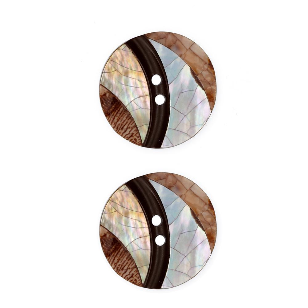 Shell Button 1'' Luminousity Brown