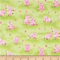 Flip The Pig Meadow Pink/Green