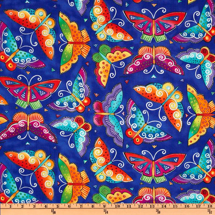 Laurel Burch Flying Colors II Large Butterfly Blue