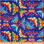 FC-426 Laurel Burch Flying Colors II Large Butterfly Blue