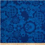 Hot House Floral Field Blue