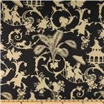 UN-882 Waverly Sun N Shade Quilted Palm Palace Onyx