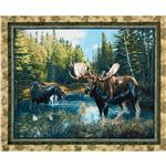 EW-864 Caldwell Creek Wallhanging Panel Blue/Green