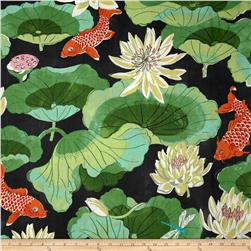 Waverly Lotus Chintz Lake Ebony