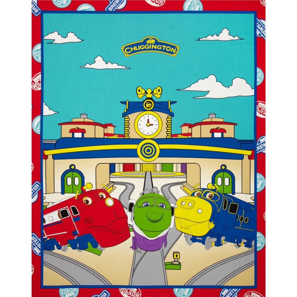 Chuggington Train Yard Panel Red