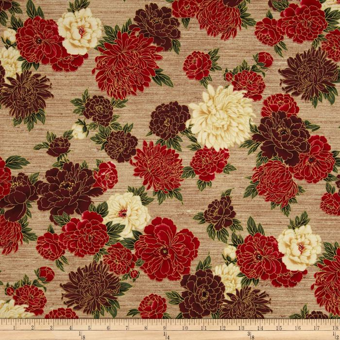 Oriental Traditions 10 Floral Crimson