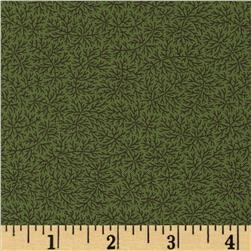 Moda Collection For A Cause Mill Book Series circa 1835 Delicate Fern Dark Leaf Green