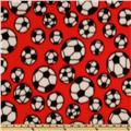 Sports Fleece Soccer Balls Red