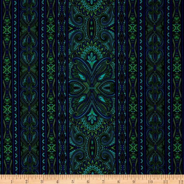 Bordering on Brilliance II Medallions Turquoise