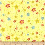 Cuddly Baby Tossed Stars Yellow