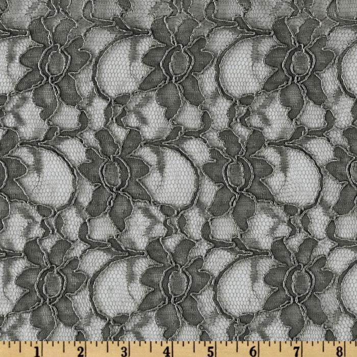 Xanna Floral Lace Fabric Graphite