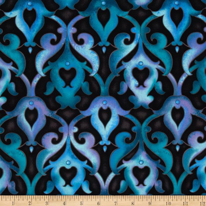 Vogue Damask Teal