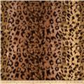 Fleece Cheetah Print Black/Brown/Rust