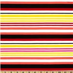 Stretch ITY Jersey Knit Stripes Red/Yellow