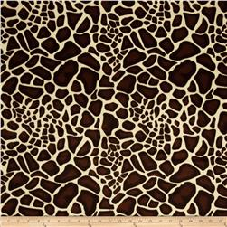 Animal Print Soft Fur Baby Giraffe Brown/Cream
