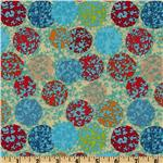 Katharine&#39;s Wheel  Bubbles Turquoise