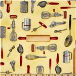 Kaufman Kiss The Cook Cooking Utensils Yellow