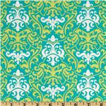 238991 Vintage Vogue Large Damask Teal