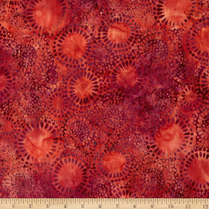 Tonga Batik Berry Crisp Medallion Crimson