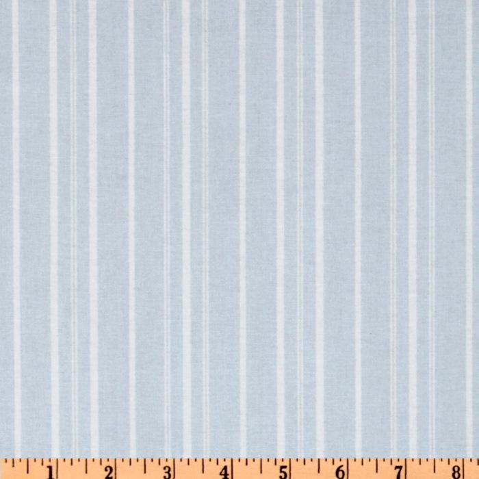 Treasures by Shabby Chic Wildflowers Stripes Blue
