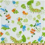 Fabri-Quilt Cuddle Flannel Cute Bugs White