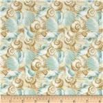 214185 Tropical Dreams Packed Shells Blue