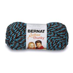 Bernat Softee Chunky Yarn (28342) Teal Twists