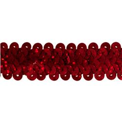 "7/8"" Hologram Stretch Sequin Trim Red"