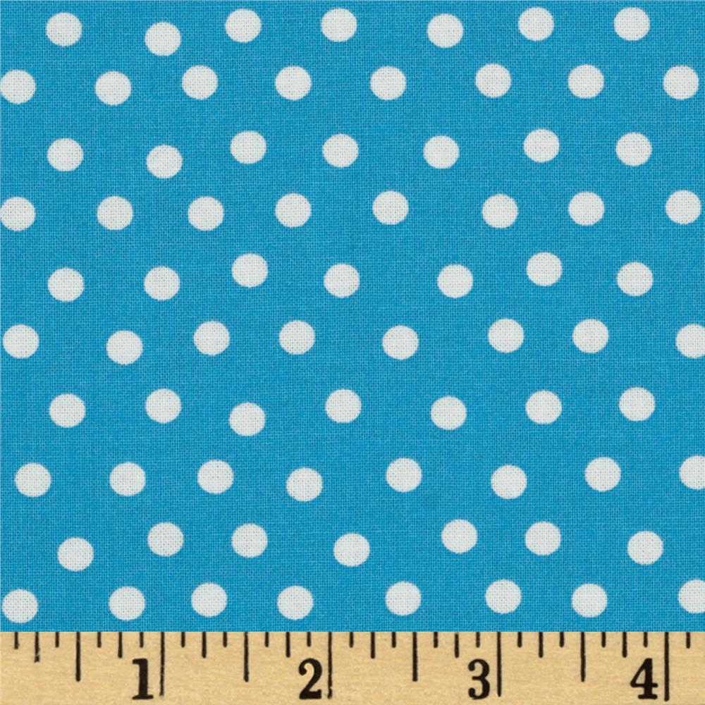 Moda Welcome to Bear Country Dots Blue