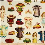 Victorian Paper Dolls Clothing Cream/Multi