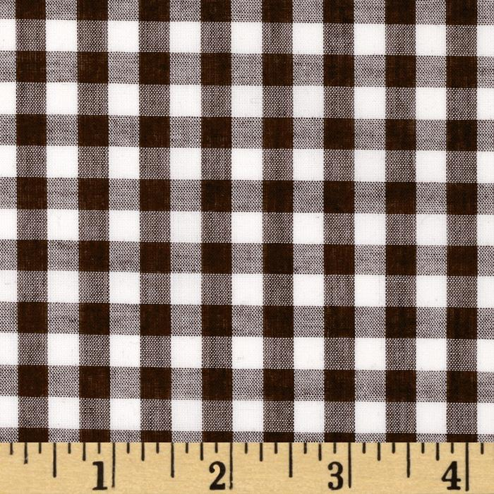 Woven 1/4&#39;&#39; Gingham Brown