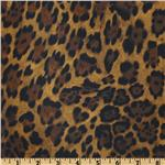 Call Of The Wild Laminated Cotton Jaguar Brown
