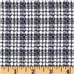 0287708 Textured Woven Suiting Plaid Navy