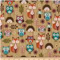 Woodland Critters Set Animals Beige