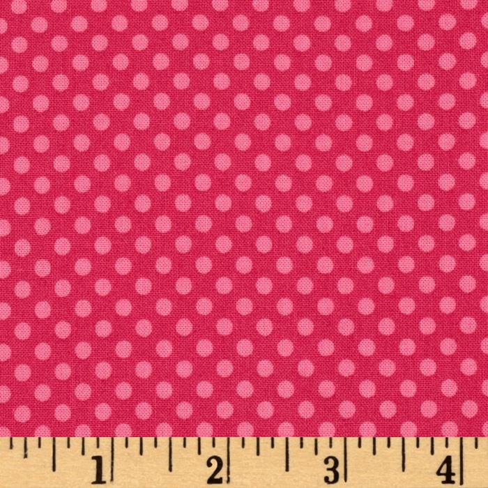 Hot Chocolate Polka Dot Hot Pink