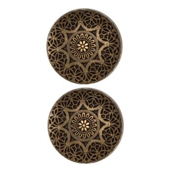 Fashion Button 1'' Safi Antique Brass