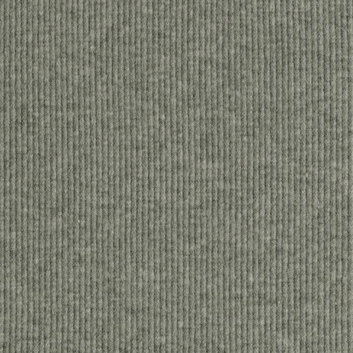 Designer Cotton Blend Rib Knit Heather Grey