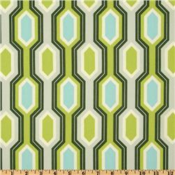 Heather Bailey Garden District Caiman Stripe Canvas Slate