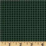 Designer Cotton Blend Shirting Gingham Green