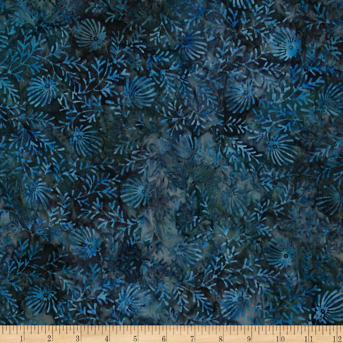 Tonga Batik Berry Crisp Fern Blue