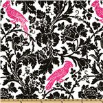 Premier Prints Barber Black/Candy Pink