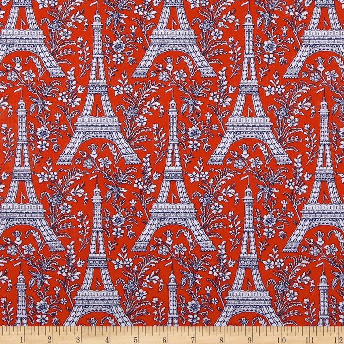 Michael Miller Eiffel Tower Collection Twilight Orange