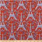 237743 Michael Miller Eiffel Tower Collection Twilight Orange