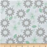 Riley Blake Willow Organic Floral Green