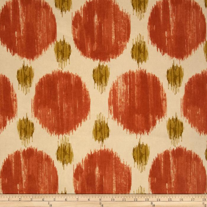 Polkaspot Ikat Microfiber Desert Orange