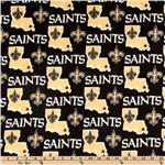 CK-182 NFL Fleece New Orleans Saints Black