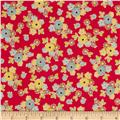 Riley Blake Sidewalks Small Floral Red
