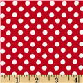Riley Blake Cotton Jersey Knit Small Dots Red